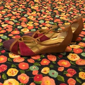 Seychelles multi-colored wedges, size 8.5